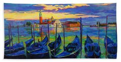 Hand Towel featuring the painting Grand Finale In Venice by Chris Brandley