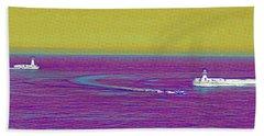 Purple Sea Bath Towel