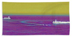 Purple Sea Hand Towel