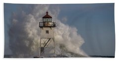 Hand Towel featuring the photograph Grand Marais Light House by Paul Freidlund