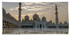Grand Mosque Sunset Hand Towel