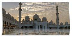 Grand Mosque Sunset Bath Towel