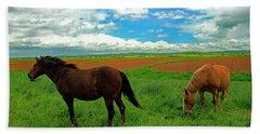 Grand-pre Horses Bath Towel