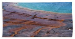 Bath Towel featuring the photograph Grand Prismatic Spring Detail by Jennifer Ancker