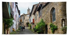 Grand Rue De L'horlogue In Cordes Sur Ciel Hand Towel by RicardMN Photography