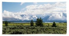 Grand Teton Countryside Hand Towel by Serge Skiba