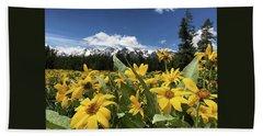 Grand Teton Mountains Bath Towel