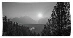 Grand Teton National Park Bw Bath Towel