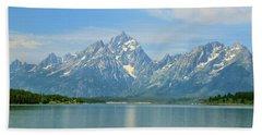 Grand Teton Over Jackson Lake Hand Towel