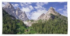 Grand Teton Peaks Hand Towel by Serge Skiba