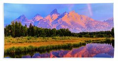 Grand Teton Sunrise Hand Towel