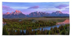 Grand Tetons Hand Towel by Chad Dutson
