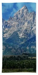 Bath Towel featuring the photograph Grand Tetons by Katie Wing Vigil
