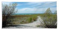 Hand Towel featuring the photograph Grand Traverse Bay Path by LeeAnn McLaneGoetz McLaneGoetzStudioLLCcom