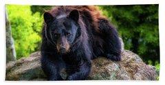 Grandfather Mountain Black Bear Bath Towel