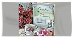 Grandma Tell Me Your Memories... Hand Towel by Sherry Hallemeier