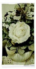 Grandmas Garden Rose Hand Towel