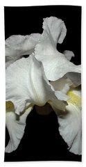 Grandma's White Iris Hand Towel