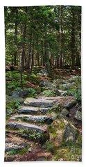 Granite Steps, Camden Hills State Park, Camden, Maine -43933 Bath Towel