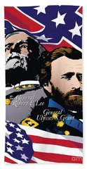 Grant And Lee At Appomattox Hand Towel