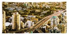 Granville Street Bridge Vancouver British Columbia Bath Towel