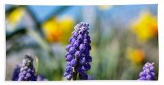 Grape Hyacinth Hand Towel
