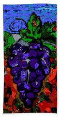 Grape Jazz Digital Bath Towel