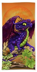 Hand Towel featuring the digital art Grape Jelly Dragon by Stanley Morrison