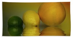 Bath Towel featuring the photograph Grapefruit Lemon And Lime Citrus Fruit by David French