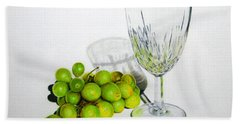 Grapes And Crystal Hand Towel
