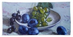 Grapes And Plums Bath Towel