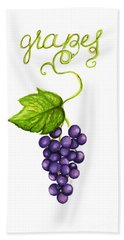 Hand Towel featuring the painting Grapes by Cindy Garber Iverson