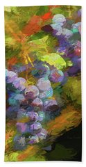 Grapes In Abstract Bath Towel by Penny Lisowski