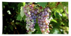 Grapes In Color  Bath Towel