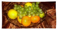 Grapes, Lemons, Mandarins And Lime  Hand Towel