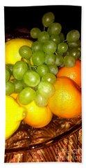 Grapes, Mandarins, Lemons Hand Towel