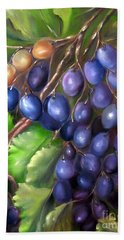 Bath Towel featuring the painting Grapevine by Carol Sweetwood