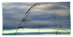 Grass Against Abstract Sky Hand Towel