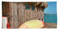 Grass Hut On Ambergris Caye Belize Hand Towel