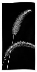 Grass In Black And White Bath Towel