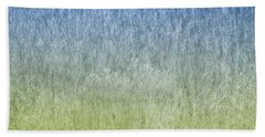 Grass On Blue And Green Bath Towel