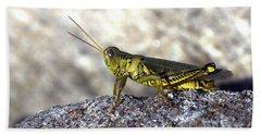 Grasshopper Hand Towel by Joseph Skompski