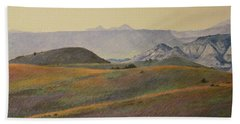 Grasslands Badlands Panel 2 Bath Towel