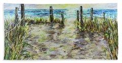 Grassy Beach Post Morning 2 Bath Towel