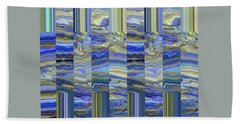 Grate Art - Blues And Greens Hand Towel