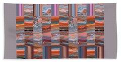 Grate Art - Earthy-tones Hand Towel by Brooks Garten Hauschild