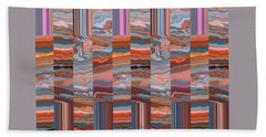 Grate Art - Earth Tones - Abstract Photography Bath Towel