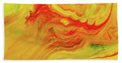 Gratitude - Red And Yellow Colorful Abstract Art Painting Bath Towel