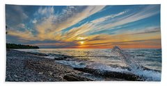 Graveyard Coast Sunset Bath Towel