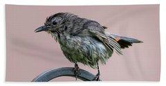 Gray Catbird After The Rain Bath Towel